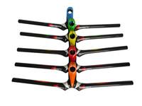 guiador laranja venda por atacado-HB14 venda quente nova chegada verde / laranja / vermelho decalque de carbono guiador mtb 90/100/120/120mm * 600 / 620mm peças de ciclismo de montanha