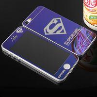 ingrosso porcellana di protezione dello schermo del telefono-Schermo anteriore del fumetto a colori posteriore vetro temperato Protector per iPhone 5/6/8 X più telefono cellulare diretta da Shenzhen Cina all'ingrosso OEMODM