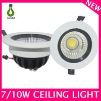 Wholesale Downlight Ip44 - Professional COB led downlight led ceiling lights manufacturer ip44 850lm aluminum round 7w led cob downlight