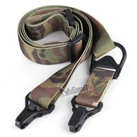 Wholesale Bungee Games - Multi-Mission 2 Point Tactical Rifle Sling Outdoor Game Paintball Hunting Adjustable Gun sling Strap Survival Bungee Tool
