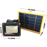 Wholesale Led Solar Panel 3w - Wholesale-3W Solar Panel 12 LED Solar Outdoor Spot Flood Light Emergency Floodlight Security Garden Path Wall Landscape Lamps Spotlight