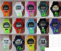 Wholesale Cheap Plastic Band Watches - Unisex Fashion Children 6900 7900 5600 9200 SHOCKS Luxury Women Sport Digital LED Cheap Cartoon Candy Wrist watches Men Student Rubber Band