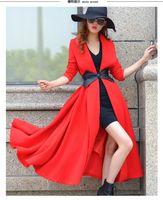 Wholesale Wool Coats For Women Korean - New Long Trench Coats for Women 2015 korean coats fur coats womens winter coats for women long coats fashion trench coat
