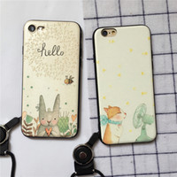 Wholesale Cute Animal Phone Cases - For Iphone 7 7plus 6 6s 6 6s Plus Mobile Phone Case Cute Animal Phone Shell Relief Soft Cover TPU Lanyard Phone Sets