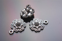 Wholesale Earring Findings Charms - 300pieces 15mm Rose Flower Pendant 7023 Charms Plated Silver DIY Jewelry Finding Making Charms Necklace infinity Bracelets Earring Accessory