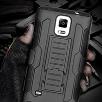 Wholesale S4 Full Case - S4 Military Future Armor Case Fighter Terminator Cover For Samsung Galaxy S4 SIV I9500 Hybrid Combo Triple Full Capa Stand Case