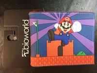 Wholesale Mario Wallets - SUPER MARIO World Wallets Cute Cartoon Comics Purse Student Short Game Wallet Anime Wallet Coin Bag Teens Credit Card Holder