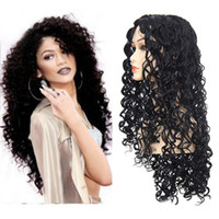 Wholesale Hair Wigs Nature - Z&F Rose Net 60CM Long Deep Wave Wigs 300G Full Lace Synthetic Nature Hair Wigs For Black Women