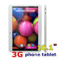 tablet usb otg sim großhandel-10,1 Dual-SIM-Quad-Core-3G-Tablet-PC 10,1 Zoll MTK6572 Telefon Tablet PC 1024 * 600 1 GB RAM + 8 GB Phablet