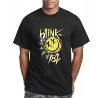 Wholesale Blink 182 - Wholesale-New Summer Hip Hop Blink 182 T Shirts Men Smiley Face Punk Rock Roll Fitness T-shirt Tshirt Tops Tees Free Shipping