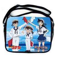 Wholesale Blue Detective - Wholesale-Gift Schoolbag Cartoon woman fashion Messenger Anime Bag Detective Conan