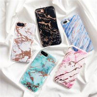 Wholesale Iphone Abstract - Fashion Soft IMD Phone Case For iphone 8 Case Abstract Marble Pattern Back Cover For iphone 8 Plus Cases Colorful Cover NEW