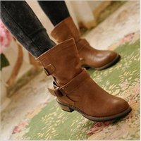 Wholesale Motorcycle Riding Shoe - new woman ladies shoes zapatos mujer chaussure ankle boots bota Riding Boots Casual Ladies Martin Boots Q213