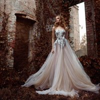 Wholesale Sexy Elegant Dress For Wedding - Stunning Bead Sequins Paolo Sebastian A-Line Wedding Dresses No Sleeve 2016 New Elegant Prom Dress For Wedding Bridal Gowns Plus Size Cheap