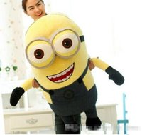 Wholesale Despicable Minion Plush Jumbo - 2016 new 120cm Top Selling Super Cute Jumbo Plush 3D Despicable ME Minions Toy, Nice Gift For Kids, Free Shipping