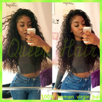 Wholesale virgin human hair wigs for sale for sale - Group buy Virgin Brazilian Full Lace Human Hair Wigs Glueless Deep Curly Full Lace Lace Front Wig Bleached Knots With Baby Hair For Sale