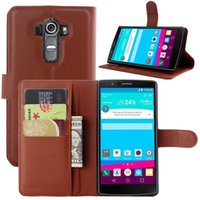 Wholesale Lg G2 Leather Flip Case - For LG G4 Litchi Skin Flip Wallet Leather Stand Holder Case Back Cover Cases For LG G4 G3 G2 Mini G3Mini G2Mini
