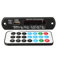 Wholesale Vcd Decoder - Remote Car Handsfree Bluetooth MP3 WMA Decoder Board Wireless Audio Module USB TF Car Radio Free Shipping order<$18no track