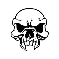 Wholesale Vinyl Car Tops - Wholesale Car Stickers Tribal Skull Sticker Decal Top Quality Vinyl Decals & Stickers For Car Window Truck Bumper Laptop Locker Glass