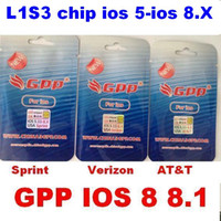 Wholesale 3g Chips - Newest GPP 4S turbo Sim Unlock card for iPhone 4S L1S3 chip 3G all carrier ios 8 8.1 ios8 ios 7-7.X US Verizon Sprint at&t r-sim 9 gevey