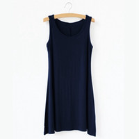 Wholesale Womens Sleeveless Vests Sale - Wholesale-Hot Sale 2015 Womens New Arrival Summer Sleeveless Round Neck Candy Color Long Vest Loose Sports Tops Casual T Shirt 8 Color