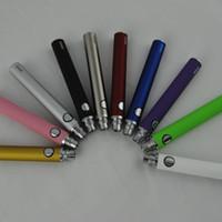 ego ce5 vape pen großhandel-eGo evod Batterie Elektronische Zigaretten Vape Stift fit 510 Gewinde mt3 CE4 CE5 CE6 Zerstäuber Zerstäuber 650 900 1100 mah Bunte VS eGo-T