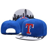 Wholesale Texas Caps - Texas Rangers Team Snapbacks Blue Baseball Hats Fashion Sports Caps Adjustable Snapback Boys and Girls Snapbacks Caps Summer Hip Hop Hats