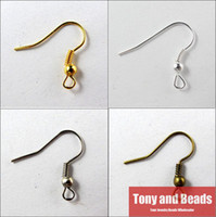 Wholesale Nickel Free Ear Wire Wholesale - (200Pcs=1Lot!)Free Shipping Jewelry Earring Finding 18X21mm Hooks Coil Ear Wire Gold Silver Bronze Nickel For Jewelry Making EF8