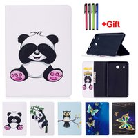 Wholesale Printing Tabs - Panda Pattern PU Leather Flip Case For Samsung Galaxy Tab A 7.0 T280 T285 Tab A 8.0 T350 T355 Tab E 8.0 T377 Tablet Cover With Card Slot