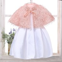 Wholesale Cheap Lace Scarves - 2017 Cheap Christmas Girls Shawls Cloak Fake Lace Cape Hollywood Glamour Girls Jackets Hot Selling Cover up Cape Stole Coat Bolero