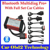 Wholesale Set Truck Cables - 2016 New Design V2015.03 CDP Bluetooth Multidiag Pro+ for Cars Trucks and OBD2 With 4GB Card Plus Full Set Car Cables by DHL