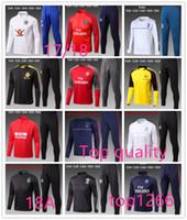 Wholesale Child S Jacket - 68AAA+ Best qualit 17 18 Ajax kids football jacket tracksuit 2017 Ajax Maillot de foot KLAASSEN MILIK child long sleeve jacket Training suit