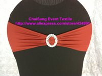 Wholesale Apple Chair Sashes - 150pcs High Quality #38 Apple Red Lycra Chair Bands&Sash with Oval buckle ,Double Layer Lycra Bands&Sash for Weddings Events Decoration