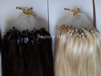 "Wholesale Micro Ring Hair Blond - 100G pack 16""18""20""22""24""26"" Remy Micro Ring Loop 100% INDIAN Human Hair Extensions Color #2 Darkest Brown and #613 Bleach Blond"