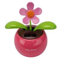 Wholesale Magic Cute Swing Flower - hot Swing Solar Flower Magic Cute Flip Flap Swing Solar Flower Solar Plant Swing Solar free shipping