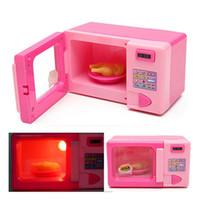 holzspielzeug gemüse großhandel-Großhandel - simulieren Ofen Mini Bildung Spielzeug Küche Toaster Mikrowelle so tun, als ob Kochen