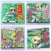 Wholesale Zelda Cap - the legend of zelda game Wallet the legend of zelda minish cap 2 fold wallet Anime Kawaii pu leather money wallet snap button wallet
