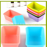 Wholesale Baby Mold For Cake Decorating - Silicone Rectangle Cake Mould Muffin Silicone Fondant Mold For Baby Sugar Chocolate Jelly Cake Decorating Multi BPA free