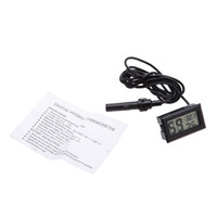 Wholesale Temp Humidity - LCD Digital Mini Thermometer Humidity Tester Electronic New Hygrometer Temp Gauge Temperature Meter Monitor with Free DHL
