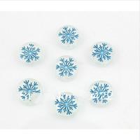 Wholesale Flat Back Resins Beads - Wholesale-set of 250 pcs Handmade resin shiny glitter Cabochons Flat Back Snow Snowflake Winter 16mm Art Charm Picture