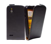 Wholesale T328e Desire X - Genuine Original Leather Flip Case Cover For HTC Desire V T328W   Desire X T328e PY