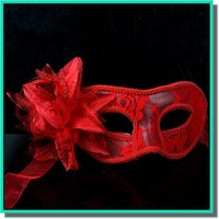 Wholesale Cloth Face Masks Wholesale - Woman Mask Halloween Masquerade Masks Mardi Gras Venetian Dance Party Face handmade golden cloth Mask 3 colors