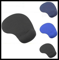Wholesale blue rest - 12pcs Top Sales slip-resistant Rubber Mouse Pad Mat With Gel Wrist Rest Support PC Notebook Laptop, Can Print LOGO