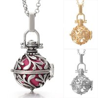 Wholesale Sterling Silver Mexican Bola - sterling silver plated harmony bola ball locket pendant ball pregnant Aquatic necklace sweater chain Hollow woman necklaces
