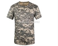 Wholesale Acu Xxl - Wholesale-Hot ACU Color Climbing Outdoor Sport Breathable Round Neck Quick-drying T-shirt Camping Hiking Free Shipping