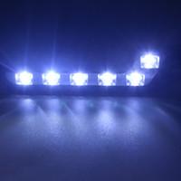 Wholesale Daytime E4 - Auto 6 COB E4 LED Car Headlight Daytime Running Light Day Xenon Lamp Fog Light Driving Parking Light Source DRL Kit W124 W204 free shipping
