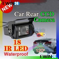 Wholesale Rear View Safety Camera - High-Definition Car Rear View Reverse 18 IR LED Reversing CCD Camera Waterproof Night Vision High Safety performance