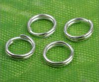посеребренные кольца оптовых-Оптовая продажа-1000 шт 4 мм посеребренные двойной петли сплит перейти кольца ювелирных изделий