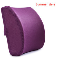 Wholesale Foam Back Cushion - Memory Foam 3d Ventilative Mesh Lumbar Support Cushion  Back Cushion   Helps the Lumbar and Sacral Region of the Spinal Column While You Sit