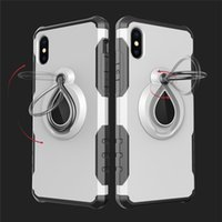 Wholesale Red Black Rose Sheets - Newest for Samsung S8 Iphone 7 8 Cellphone Case Mounter Dual Layer With Iron Sheet Car Holder Magnetic Bracket Ring Armor Phone Case